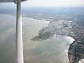 Vue aérienne sur les marais de Marenne