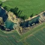 L'armançon - Bourgogne - vue aérienne