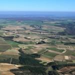 Vignes - Chablis - Bourgogne - vue aérienne