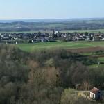 Village de Germigny - Bourgogne - vue aérienne