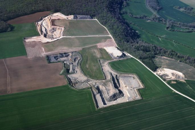 Nod-sur-Seine - carrière - vue aérienne