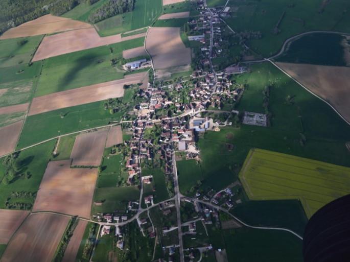 Marolles-sous-Lignières - vue aérienne