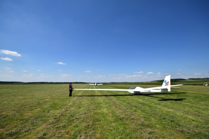 Planeur - Vol d'initiation - Prêt au décollage