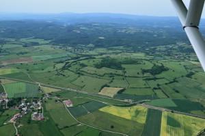 ULM - début du Morvan - vue aérienne