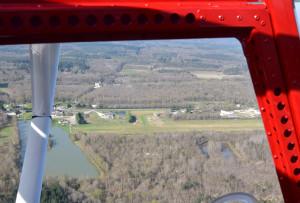 Vue aérienne de la piste de LF4131 Vouzon Le Rabot