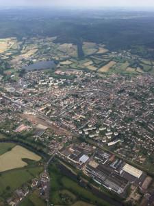 Autun, Bourgogne - France - Vue aérienne