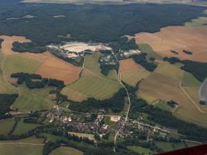 Carrière de Massangis, Bourgogne - France - Vue aérienne