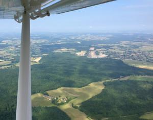 Carrière de Saint-Magnance, Bourgogne - France - Vue aérienne