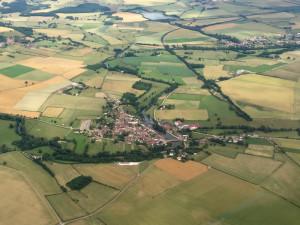 Guillon, Bourgogne - France - Vue aérienne