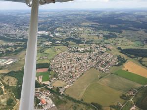 Les Gautherets, Saint-Vallier, Bourgogne - France -Vue aérienne