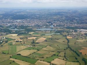 Montceau-les-Mines -Bourgogne France - Vue aérienne