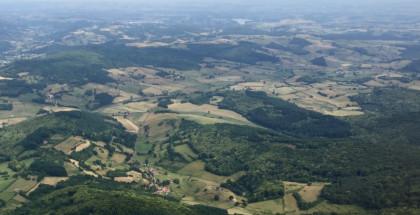 Vallons dans la Parc régional du Morvan en Bourgogne - France