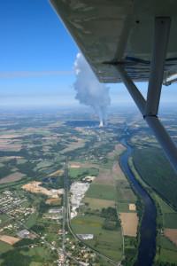 Centrale nucléaire de Civaux - en traversant la Vienne